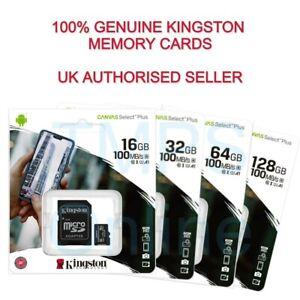 Genuine Kingston 16/32/64/128GB CLASS 10 Micro SD Card and Adaptor