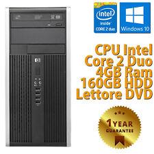 PC COMPUTER DESKTOP FISSO HP6000 TOWER RICONDIZIONATO DUAL CORE 4GB 160GB WIN 10
