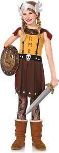Girl Viking Warrior Dragon Slayer Fancy Dress Costume Age 4 5 6 7 8 9 10 11 12