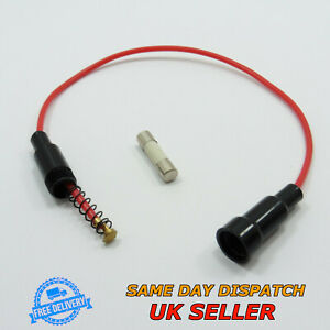 In-Line Screw Splash Proof Fuse Holder + 5x20mm Quick Blow Ceramic Fuse AGC Fast