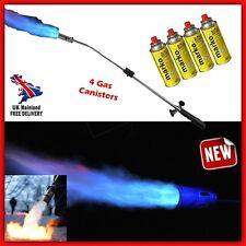 Lawn Weed Burner Blaster Blow Torch Flamethrower Moss Killer Butane Gas Gun Wand