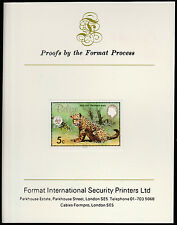 Belize (1303) 1983 WWF - JAGUAR 5c imperf on Format International PROOF  CARD