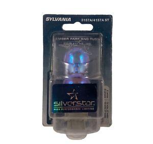 2x Sylvania 3157 Amber Light Bulbs High Performance Lamps Made In USA