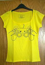 Women's tee Joystick, lemon yellow colour, size Medium