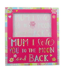 MAMMA I LOVE YOU TO THE MOON AND BACK ! glasswood Cornice portafoto CARINO