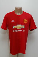 MANCHESTER UNITED 2016/2017 HOME FOOTBALL SHIRT JERSEY ADIDAS SIZE L ADULT