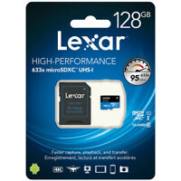 NEW RETAIL SEALED- Lexar 128GB microSDXC 633x Class 10 UHS-I MicroSD Memory Card