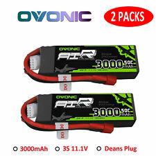 2X Ovonic 50C 3000mAh 11.1V 3S Lipo Akku T Stecker Für RC Auto Hubschrauber FPV