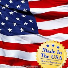 Annin Flagmakers Authentic American Made US Flag 3 ft x 5 ft Poly/Cotton Blend