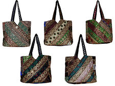 10pcs Cotton Ethnic Sequin Embroidered Work Rajasthani Style Wholesale Lot Bag
