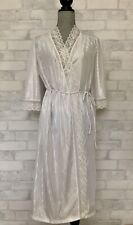Vintage BELLINA PeignoIr Set NIGHTGOWN ROBE White Polyester Lace Small S Canada