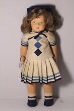 "Vintage Lenci Italy Felt Doll 20"" ~ Authentification Certificate & Original  Box"