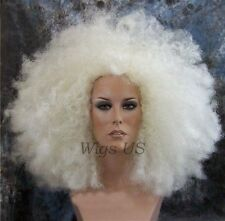 Afro Wig White Blonde Huge Jumbo Afro Costume Wigs US Seller