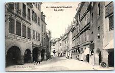*Lons le Saunier les Bains Les Arcades Street View France Vintage Postcard C52