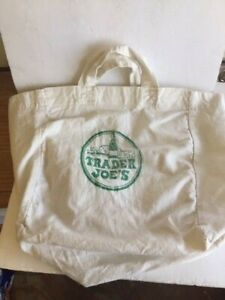 Vintage 1980's Trader Joe's Canvas Bags Green lettering