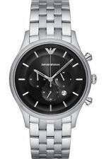 Emporio Armani Men's Black Sunray Dial 43mm Watch AR11017 NEW! USA SELLER!!