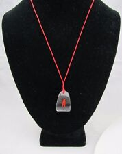 """RED BUG Insect REAL Acrylic Pendant Red Cord Steampunk Gothic 10"""""""