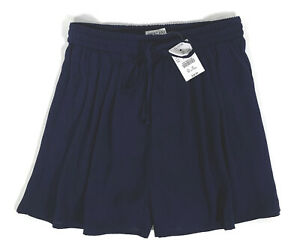 J Crew Mercantile Womens Navy Blue Easy Pull On High Waisted Shorts Size XSmall