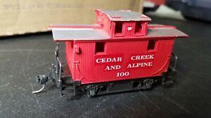 I4  HO Scale Train VINTAGE CEDAR CREEK MINI CABOOSE red custom 100 Knucklers