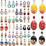 Fashion Women Crystal Pearl Flower Earrings Ear Stud Tassels Dangle Drop Jewelry