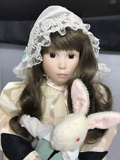 "Danbury Mint by Jan Hagara Brooke & Bunny 21"" Porcelain Collector's Doll 1989"