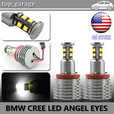 160W CREE H8 6000K White BMW LED Angel Eyes Ring Marker Bulbs For 1 3 5 X Series