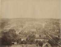 Panorama Di Bayonne Foto Albumina Vintage Albume D'Uovo Ca 1880