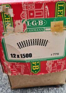 LGB 1500 Wide Radius Curved Track Box of 17 - Vtg Lehmann, W. Germany