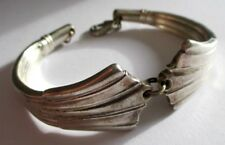 Bijou Vintage unique bracelet rigide demi ouvert couleur argent poinçonné 1558