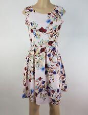 Iska Dress Womens Size 6 Multi Color Floral Print A Line Summer Party Sundress