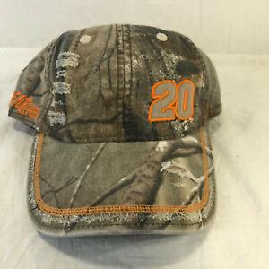 Tony Stewart #20 Team Realtree Camo Hat Chase Authentics NWT