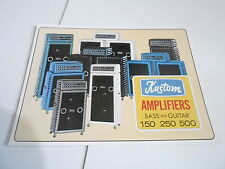 VINTAGE MUSICAL INSTRUMENT CATALOG #10701 - 1960s/1970s KUSTOM GUITAR AMPLIFIERS