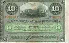 SPAIN COLONIAL 10 PESOS 1896. VF CONDITION. ORIGINAL. SCARCE