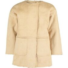 Hust &Claire faux sheepskin Beige Shearling Coat for girl 7 years old RRP £54.99