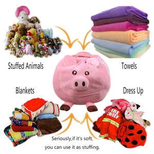 Household Cartoon Toy Storage Bean Bag Chair Kids Soft Stuffed Organizer Toys