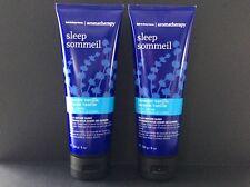 Bath and Body Works Sleep Aromatherapy Lavender Vanilla Body Cream 8 oz lot of 2
