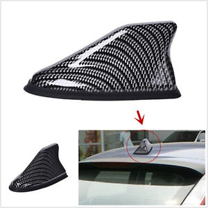 Universal Carbon Fiber Auto Car Roof Shark Fin AM/FM Radio Signal Aerial Antenna
