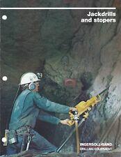 Equipment Brochure - Ingersoll-Rand - Jackdrills Stopers -1981 - Mining (E4756)