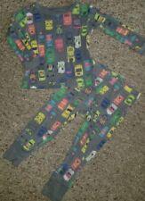 Osh Kosh Gray Vehicle Print Long Sleeved Cotton Pajamas 24 months