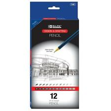 Design & Drafting Pencils for Art Architects Graphs Charts, BAZIC®, New, 12/Pack