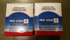 Lesaffre Red Star Bakers Active Dry Yeast 2 x 2 lb. Vacuum Pack  (4 lb total)