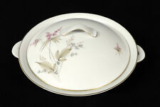 Chalfonte Enchanted Evening large serving bowl with lid pink & blue flws Germany