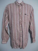 Faconnable Mens size XL Button Front Long Sleeve Multi-Color Striped Shirt