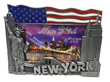 1 PC NEW NYC PICTURE FRAME 4X6 METAL PHOTO FRAME NEW YORK CITY SKYLINE 50262