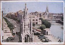 Irish Postcard SOUTH MALL CORK City Ireland John PC DeLuxe No 300 to USA 1963