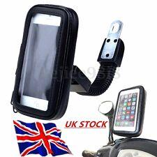 WATERPROOF Bendable Arm Motor Bike Motorcycle Rear Mirror Phone Holder Bag Case