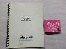 Wavetek Model 164 30 Mhz Sweep Generator Instruction Manual