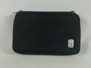 Nintendo DSXL Rigid Carrying Case Black Zipper Console Accessories and Games