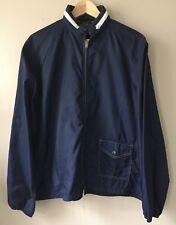 Vintage Sears Windbreaker Blue Nylon Skate Surf Jacket Mens Size Large