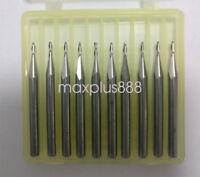 """10pcs 3.175mm 1/8"""" 2 Flute Ball nose End Mill Cutter CNC Bit CED 1mm 3mm CEL"""